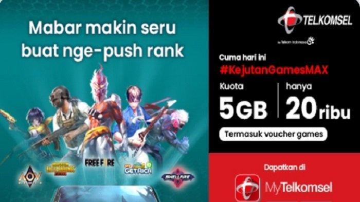 Promo #KejutanGamesMax dari Telkomsel Paket GamesMAX 5 GB Hanya Rp 20 Ribu