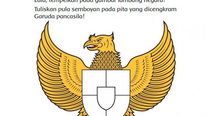 Jawaban Tema 8 Kelas 3 Hal 45, Tuliskan Hasil Pengamatanmu Mengenai Lambang Negara Garuda Pancasila