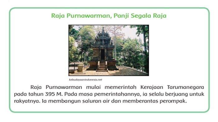 Tuliskan Perjuangan yang Dilakukan oleh Raja Purnawarman! Ini Jawaban Tema 5 Kelas 4