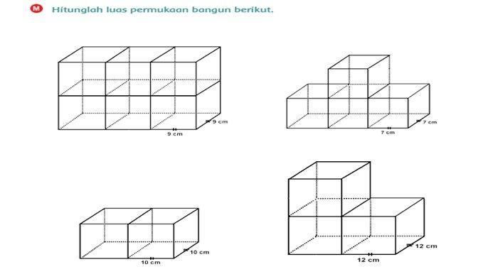Hitunglah Luas Permukaan Bangun Berikut, Ini Jawaban Buku Tema 4 Kelas 6 Halaman 127 128
