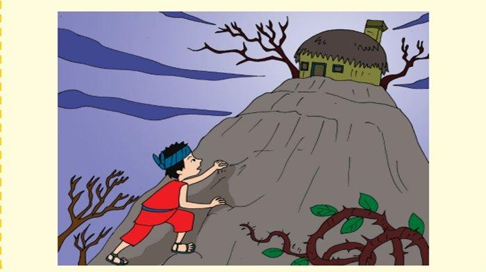 Gambar pada bacaan Asal Mula Pohon Kelapa.