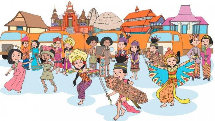 Bangun Datar pada Gambar Pawai Budaya, Kelompokkan Mana yang Termasuk Segi Banyak dan Bukan?