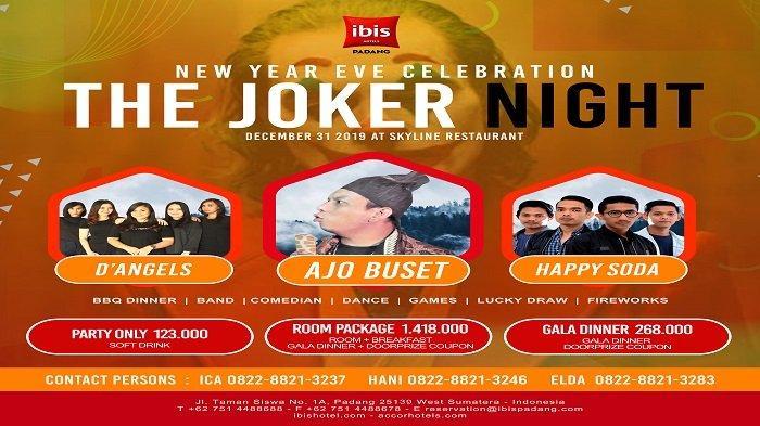 H-1 Tahun Baru 2020, Ibis Hotel Padang Hadirkan Ajo Buset dan Super Duper Joker Doorprize