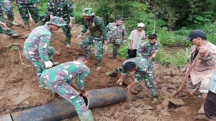 Satgas dan Masyarakat Bersemangat, Sukseskan TMMD Ke-108 Kodim 0307 Tanah Datar