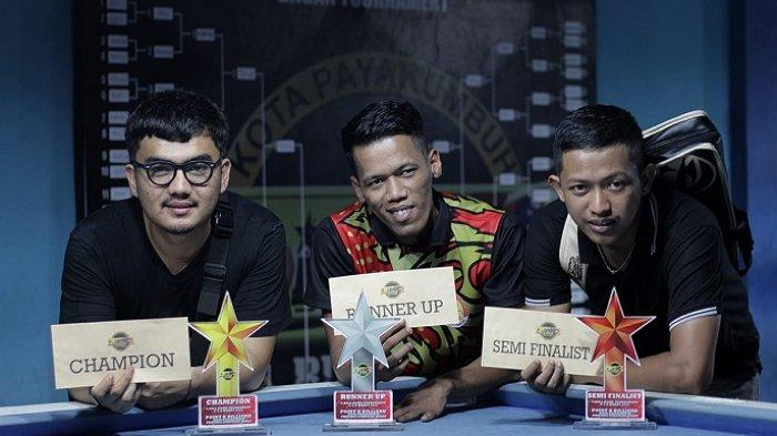 Toriq Abudan, Atlet Biliar Padang Juarai Turnamen Handicap 9 Ball Setelah Kalahkan Tuan Rumah