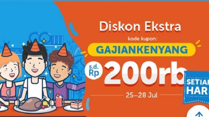 Kabar Gembira! Promo Diskon Ekstra Traveloka Eats Hingga Rp 200 Ribu, Berlaku 25 Hingga 28 Juli
