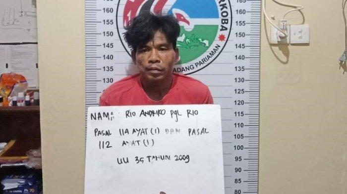 Kedapatan Miliki Sabu dan Ganja, Tukang Tambal Ban Mobil di Padang Pariaman Ditangkap Polisi