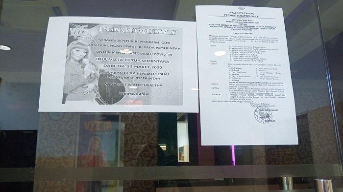 Bioskop XXI dan Arena Bermain dan Tempat Hiburan di Plaza Andalas Padang Tutup Sementara