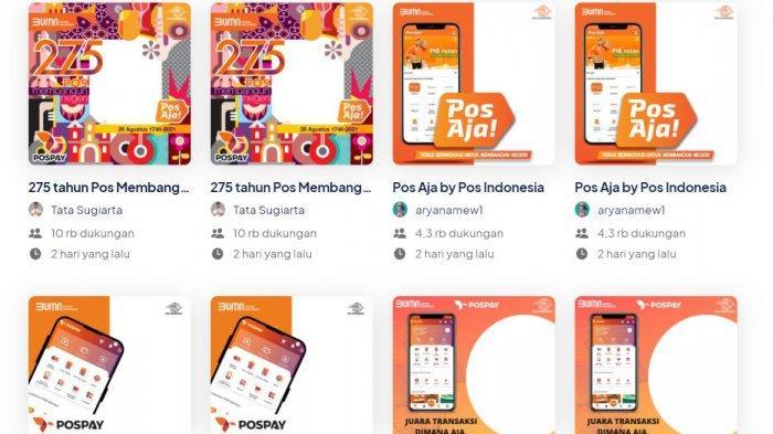 LINK Twibbon HUT Ke-275 Pos Indonesia, Ucapan Selamat dengan Frame 275 Tahun Pos Membangun Negeri