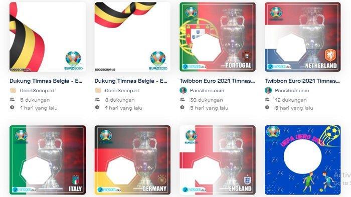 Twibbon Piala Euro 2020, Cek Link Bingkai Foto Pilih Negara yang Didukung di Twibbonize.com