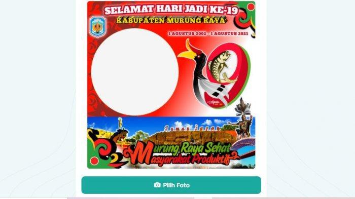 Twibbon Hari Jadi ke-19 Kabupaten Murung Raya 1 Agustus 2021