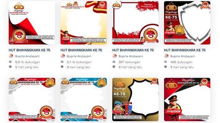 30 Link Twibbon HUT Bhayangkara ke-75, Pilih Bingkai Kartu Ucapan Hari Bhayangkara di Twibbonize