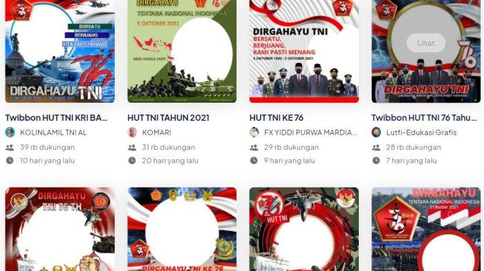 20 Frame Foto Twibbon HUT ke-76 TNI 2021, Simak Cara Unggah di Media Sosial dan Kirimkan Ucapan