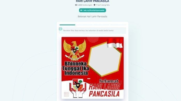 Twibbon Ucapan SelamatHari Lahir Pancasila, Cek Twibbonize.com Bagikan ke Media Sosial