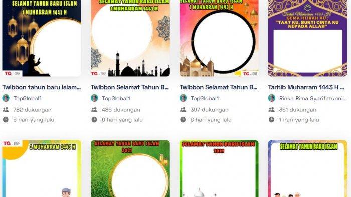 38 LINK Twibbon 1 Muharram 1443 H, Ucapan Selamat Tahun Baru Islam 2021 Langsung Unggah Media Sosial