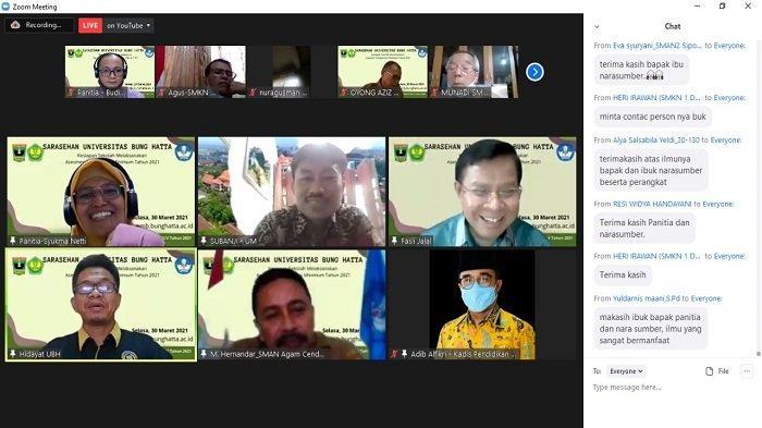 500 Guru dan Kepala Sekolah Ikuti Sarasehan, Kerja Sama Pemprov Sumbar dan Universitas Bung Hatta