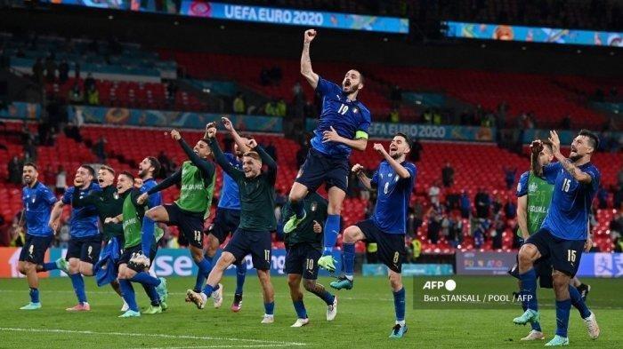 Kemenangan di Semifinal Euro 2020 Kontra Spanyol, ini Final ke 10 Italia di Turnamen Besar