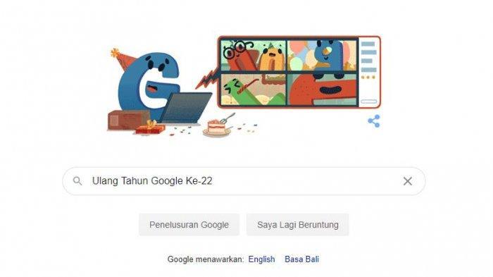 Ulang Tahun Google ke-22 Jadi Tampilan Doodle, Ini 4 Fakta Google yang Tak Banyak Orang Tahu