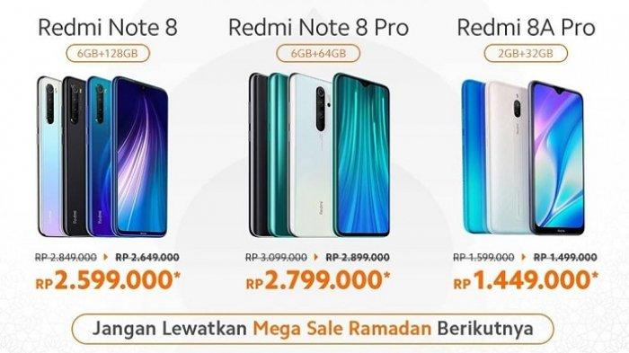 UPDATE Harga HP XIAOMI Mei 2020, Diskon Rp 200 Ribu untuk Mi Note 10, Redmi Note 8 Pro, Redmi Note 8