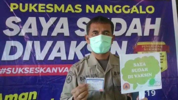 Ilustrasi: Petugas BPBD Kota Padang pada seusai vaksinasi, Kamis (18/3/2021).
