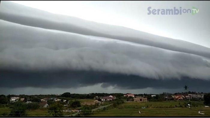 VIRAL Video Awan Mirip Gelombang Tsunami di Meulaboh Aceh Barat dan Nagan Raya, Ini Penjelasan BMKG