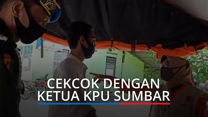 VIRAL Video Cekcok Ketua KPU Sumbar dengan Petugas PSBB di Perbatasan Padang, Begini Kronologinya