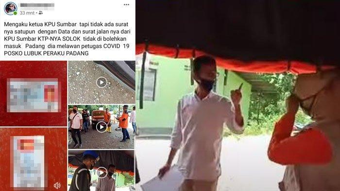 Posting KTP dan Video Cekcoknya dengan Petugas PSBB di Facebook, Ketua KPU Sumbar Lapor Polisi