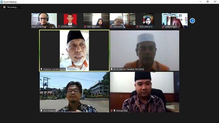 Virtual Pendikar Universitas Bung Hatta: Gubernur Mahyeldi Berpesan Khusus untuk Generasi Milenial