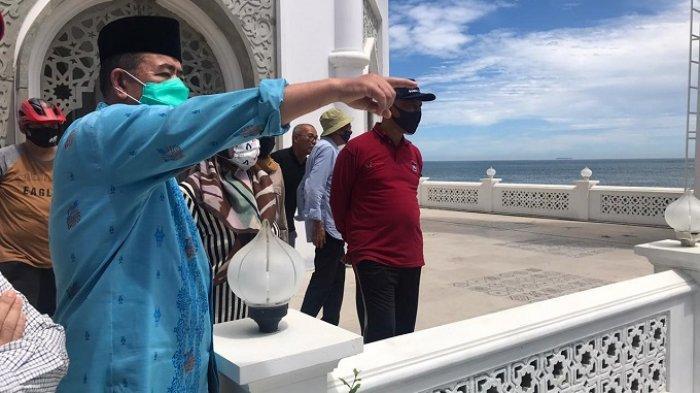 Nasrul Abit dan Mahyeldi Tinjau Masjid Al Hakim Pantai Padang, Bakal Jadi Ikon Wisata Halal