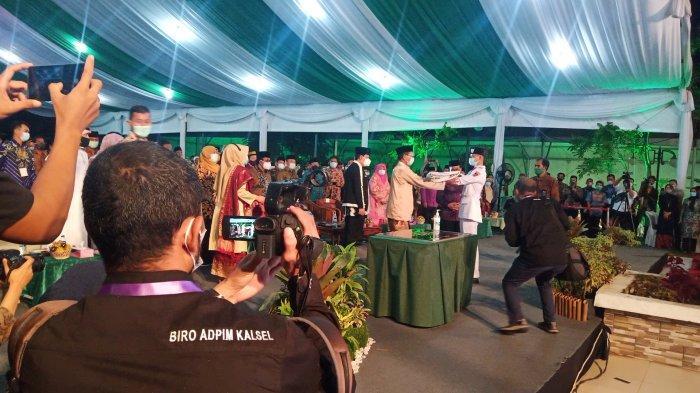 Wamenag Serahkan Bendera MTQ pada Kalimantan Selatan sebagai Tuan Rumah MTQ Nasional 2022