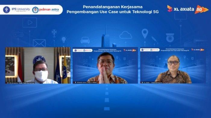 Kembangkan IoT di Jaringan 5G, XL Axiata Jalin Kemitraan dengan IPB dan Polman Astra