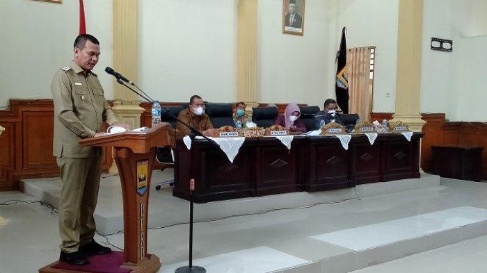 Wako Genius Umar Sampaikan LKPD Pelaksanaan APBD Kota Pariaman 2020, Realisasi PAD Turun 10 Persen