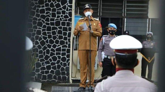 Wali Kota Pariaman Genius Umar Pimpin Apel Pasukan Operasi Ketupat Singgalang 2021