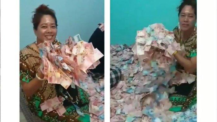 Ramai Artis Pamer Saldo ATM, Wanita Berdaster Ini Perlihatkan Uang Penuhi Ruangan, Videonya Viral