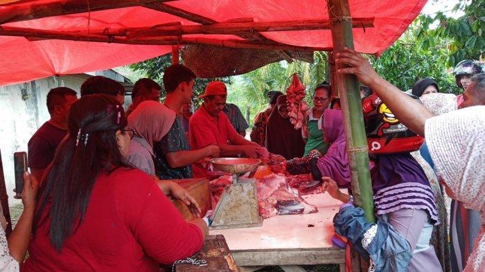 KISAH Pedagang Daging Jelang Lebaran di Padang, Sapi Dipotong di Depan Wargahingga Jualan 2 Kali