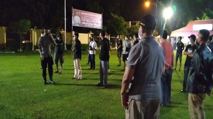 Polresta Padang Amankan Sebanyak 200 Warga Langgar Protokol Kesehatan saat Malam Minggu