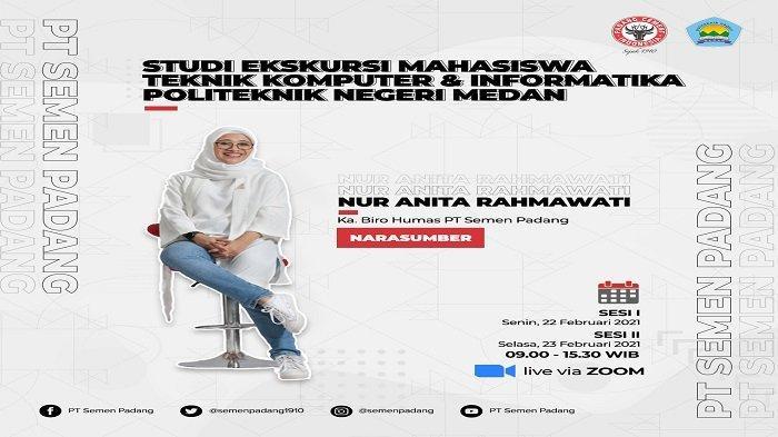 Kepala Humas Semen Padang Jadi Narasumber Studi Ekskursi Politeknik Medan, Secara Virtual