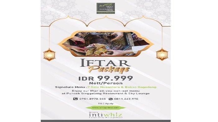 Paket Iftar Package di Hotel Whiz Padang, Berbuka Sepuasnya Rp 99.999 Net Per Orang