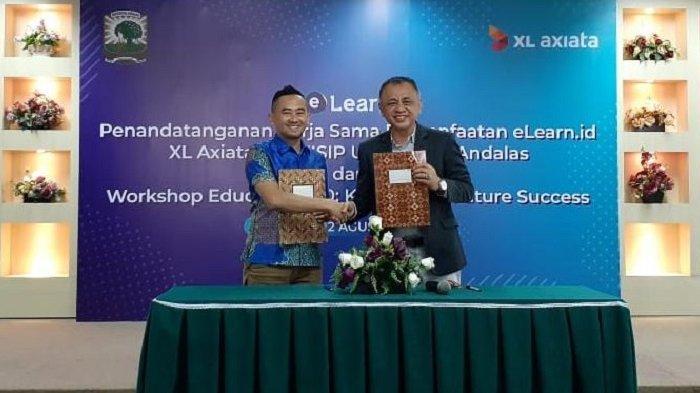 XL Axiata Jalin Kerja Sama dengan Fisip Unand Padang, Mahasiswa BisaBelajar Online Pakai E-Learn.id