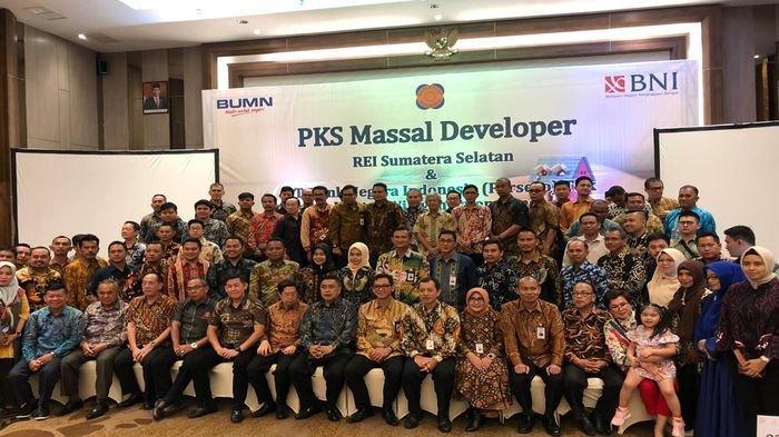 Dongkrak Penjualan Rumah, 102 Pengembang Perumahan Anggota REI Sumsel Teken PKS dengan BNI