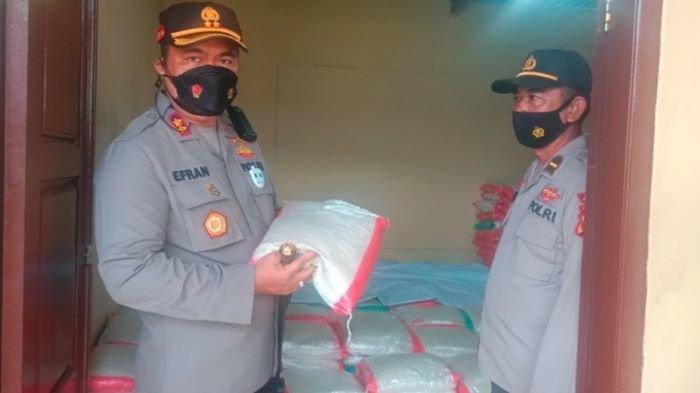 Polres Mura Salurkan 5 Ton Beras 100 Dus Mie Instan Bantuan Pengusaha