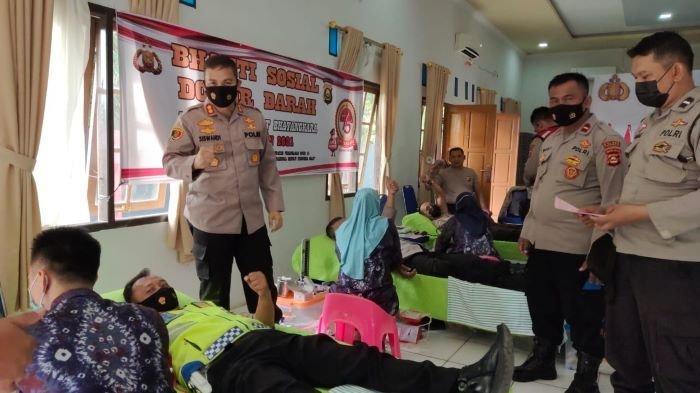Ratusan Personil Polres Prabumulih Donorkan Darah, Bantu Penuhi Stok Darah RSUD Prabumulih