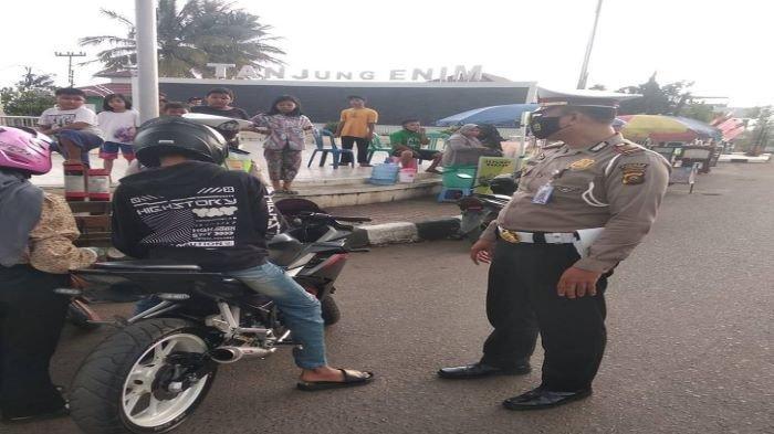 Puluhan Sepeda Motor Berknalpot Racing Ditilang, Terjaring Razia Polres Muaraenim