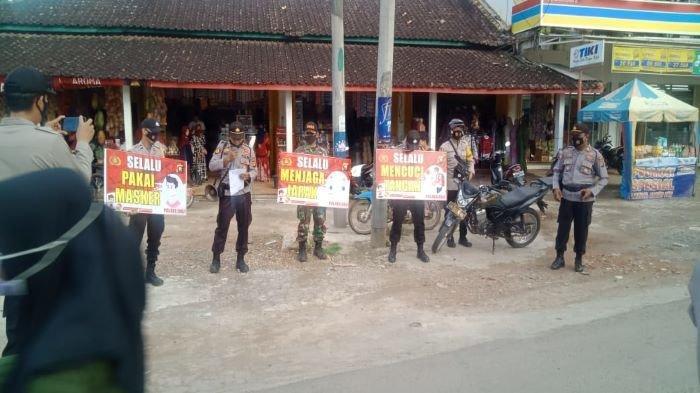 Polres OKU Serbu Kampung Covid -19 Zona Orange, Himbauan Masyarakat Disiplin Prokes