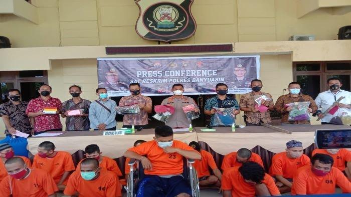 Polres Banyuasin Amankan 29 Pelaku Kejahatan, Terjaring Operasi Sikat Musi