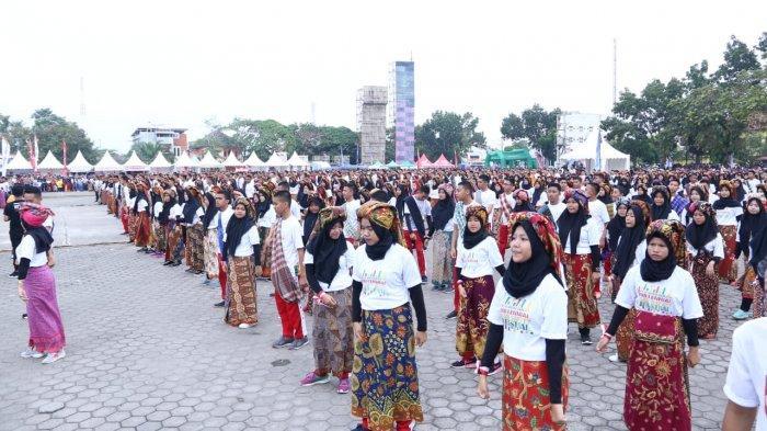 1.500 Peserta Tari 'Mantang Parah' Pecahkan Rekor MURI, MRSF 2019 di Muba Berlangsung Meriah