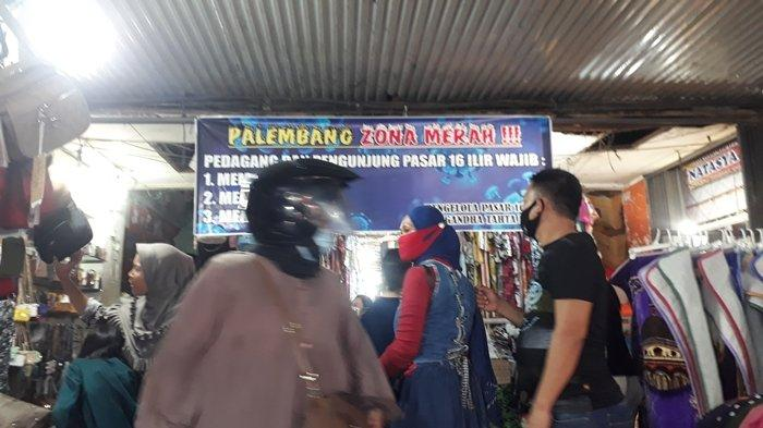 Pedagang di Gedung Pasar 16 Ilir Palembang Taat Protokol Kesehatan Covid-19, Masalahnya yang di Luar