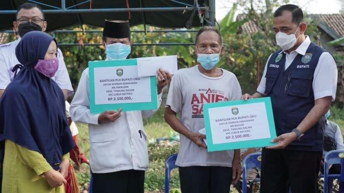 Bantuan Kepada Korban Kebakaran di OKU Mulai Mengalir, Donatur Sumbang Uang dan Sembako