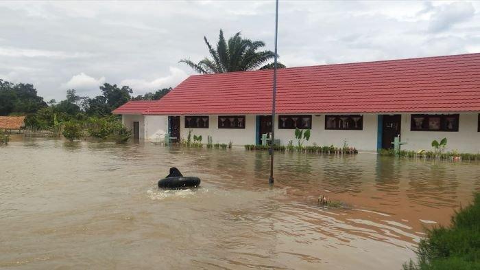 Sungai Bulang Meluap Puluhan Rumah Penduduk Terendam Air,Warga Kaget Belum Pernah Terjadi