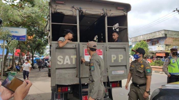 Puluhan Warga Diangkut Satpol PP Prabumulih, Tidak Gunakan Masker di Tempat Umum